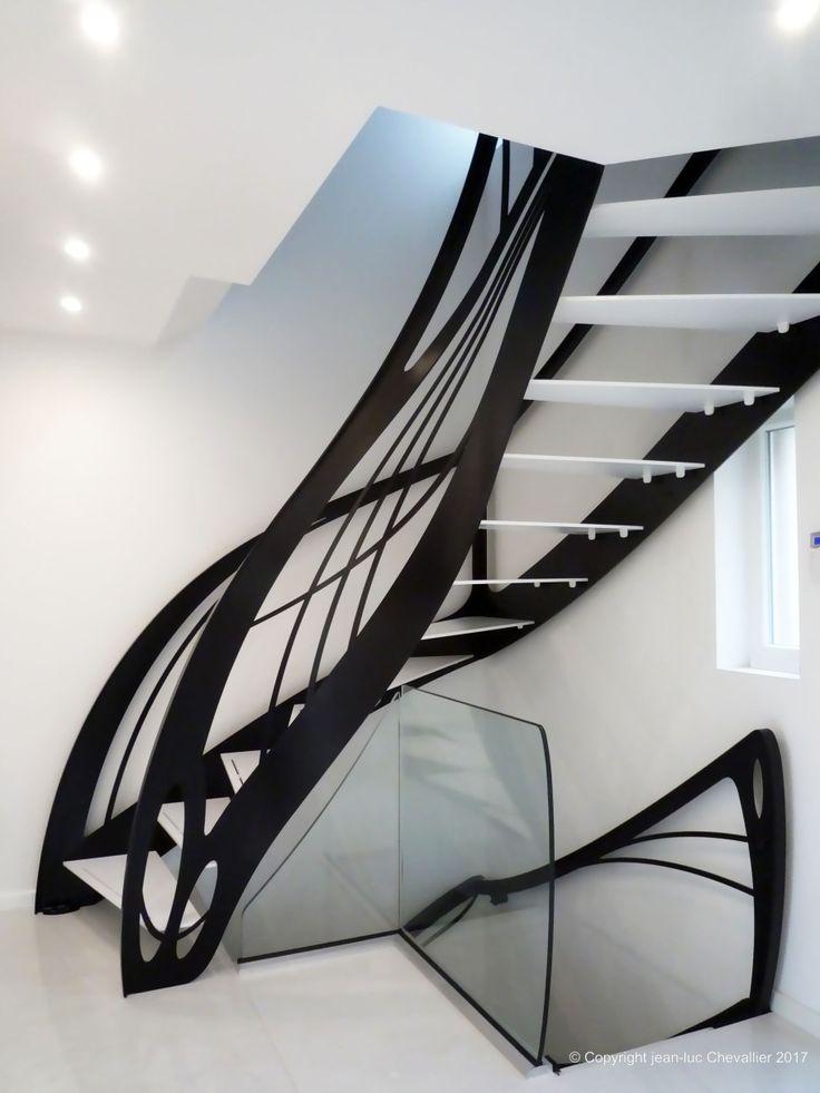 113 best mobilier et escalier contemporain art nouveau art. Black Bedroom Furniture Sets. Home Design Ideas