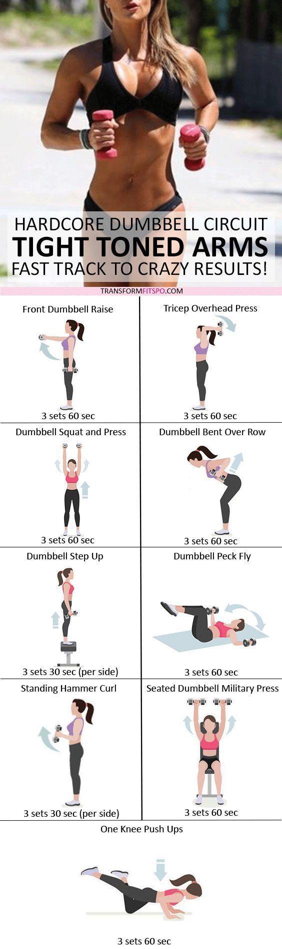 💪🏼 Tonen Sie und ziehen Sie Ihre Arme fest! Dumbbell Progressive Circuit für verrückte Ergebnisse