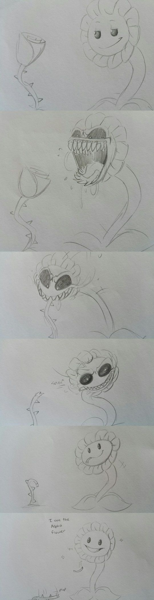 Flowey what tHE HECK!<<<*small terrified whimpering noises*