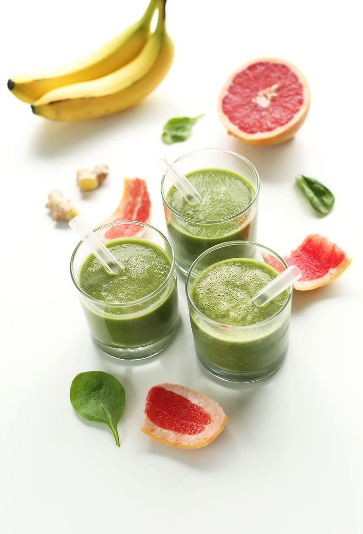5 Ingredient Grapefruit Green Smoothie! #vegan #glutenfree and naturally detoxifying