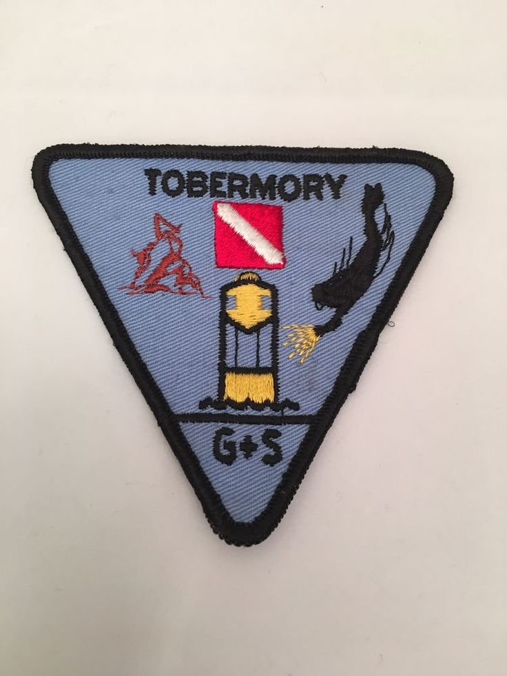 Tobermory Canada scuba diving vintage patch G + S watersports #GSWatersports