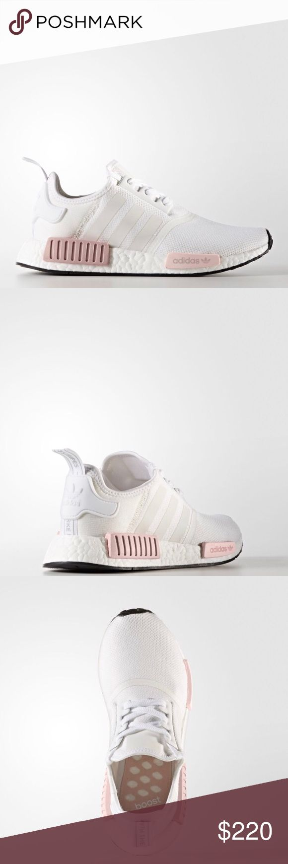Adidas NMD White & Icey Pink Adidas NMD white and icey pink women's. All small sizes sold out in ALL STORES. Latest release June 10th. No trades. adidas Shoes Athletic Shoes