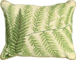 Needlepoint Fern 82 Pillow