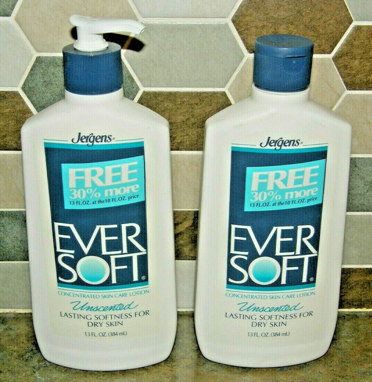 Unused 2 x Jergens EVER SOFT Concentrated Skin Care Lotion