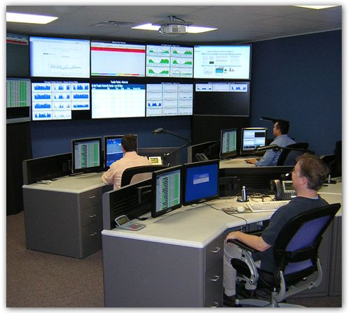 Outsourcing Operations  Consoles and LCD Video Wall