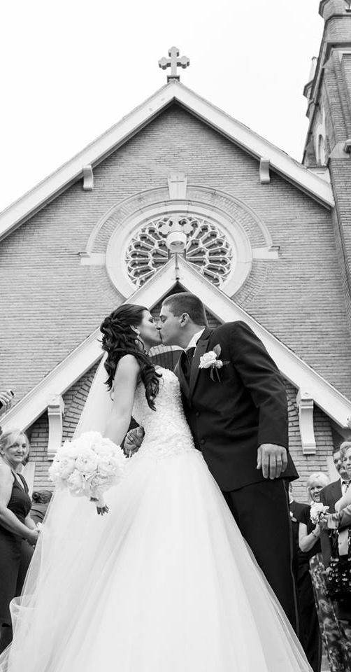 Wedding photography // this could be a shot of outside the church b/w the two of you.
