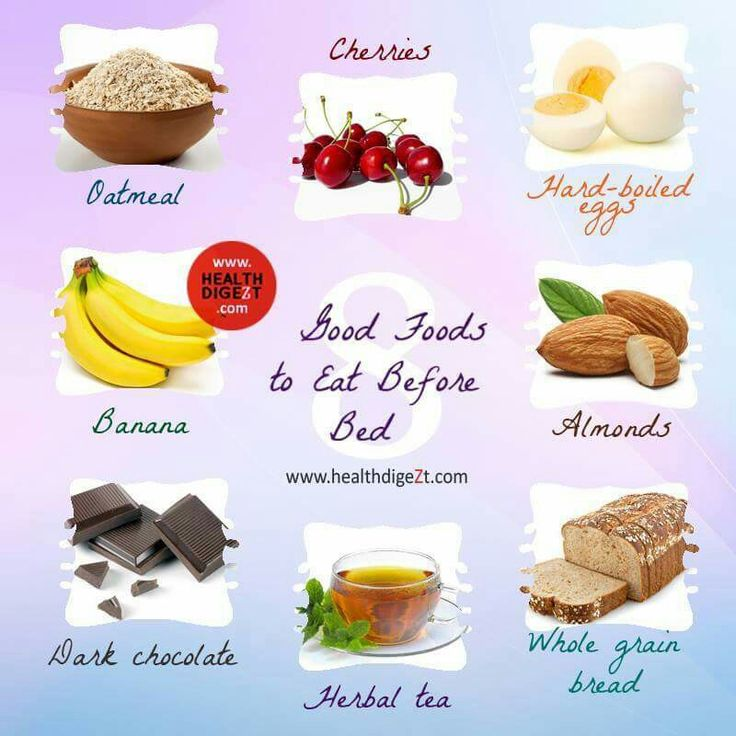 If you're going to eat before bedtime... these are the foods to snack on...