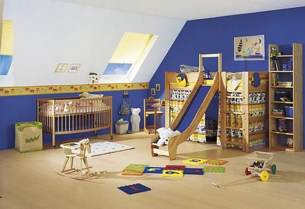 Transform your kids' bedroom into a playroom. Add a slide on the bed and place their toys in there. They'll surely never want to get out of their rooms anymore.