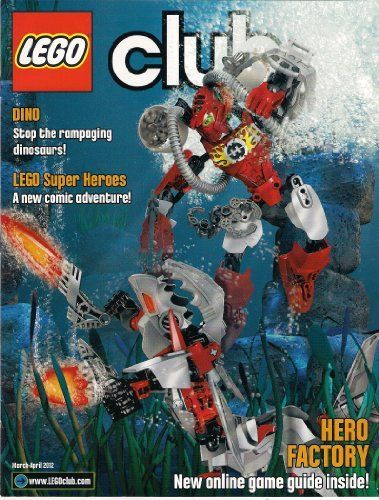 LEGO Club magazine (March-April 2012) Hero Factory Gamers Guide Super Heroes Showdown Cars2 Star Wars Cool Creations Morning in Lego City Snakes ina Dogfight Midair Mayhem Dino Duel Crime Capers Under the Sea Contests alot more! *** You can find out more details at the link of the image.