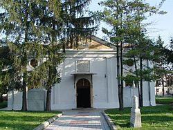 Church of the Holy Archangels Michael and Gabriel in Brăila, Romania, is the country's only former mosque converted into an Orthodox church
