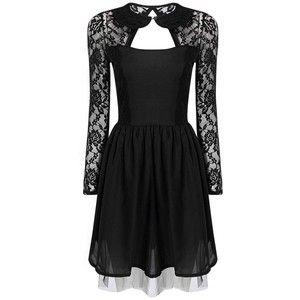 Yoins Black Lace dress