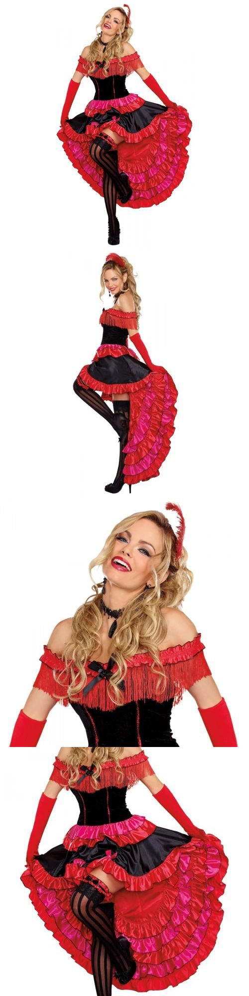 Women Costumes: Saloon Girl Costume Adult Can Can Dancer Halloween Fancy Dress -> BUY IT NOW ONLY: $33.29 on eBay!