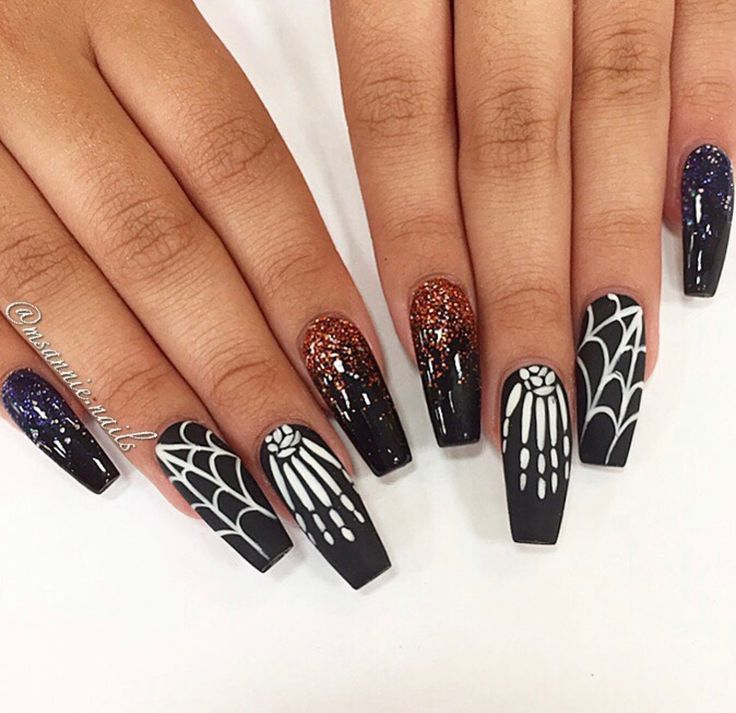@Vannah2399 † | Nails in 2019 | Halloween Nails, Nails ...