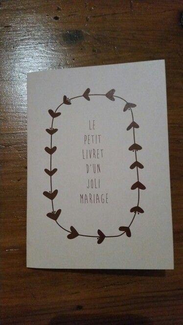 """Livret de Messe """" Le petit livret d'un joli mariage"""""""