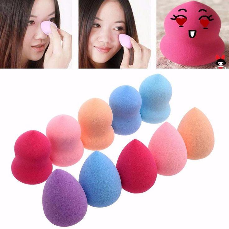 Beauty Girl 10pcs Pro Beauty Flawless Makeup Blender Powder Foundation Puff Multi Shape Sponges Aug 12