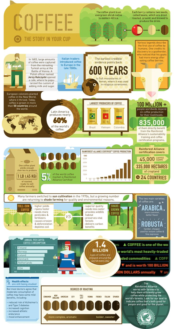 Coffee: The Story in your Cup #infographic