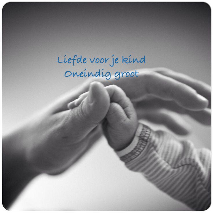 Liefde voor je kind Oneindig groot
