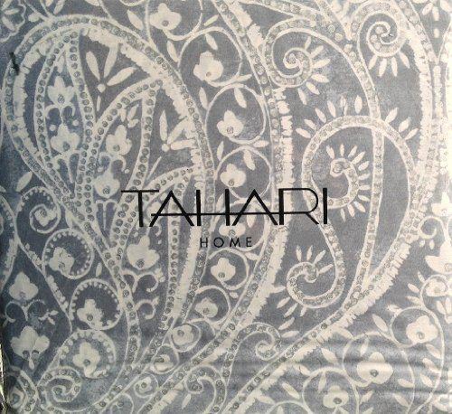Tahari Home 3pc Duvet Cover Set Paisley Medallion Silver