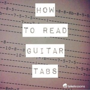 How to Read Guitar Tabs http://takelessons.com/blog/how-to-read-guitar-tabs