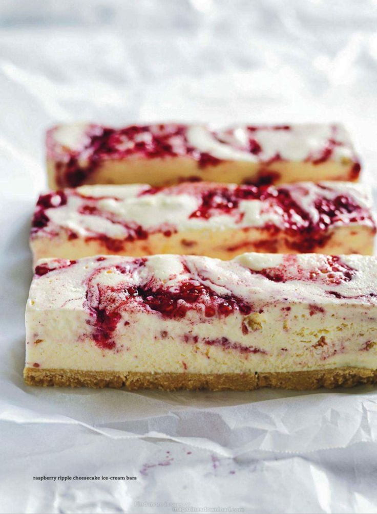 raspberry ripple cheesecake ice cream bars.  march 2014 donna hay mag