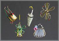 TOP 5 St Gablonz - Libelle Tasche Parasol Windmühle gartenkarre um 1930