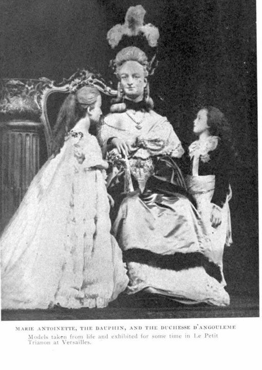 Marie Antoinette and her children - done in wax - by Madame Tussaud. She actually knew Marie and her children.