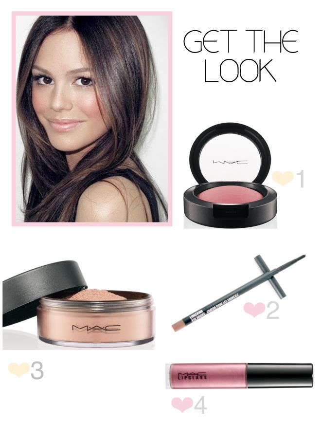 I love this rosy glow makeup look on Rachel Bilson.  Very fresh-faced and natural.