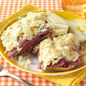 Corned Beef and Coleslaw Sandwiches from Taste of Home -- shared by Marilou Robinson of Portland, Oregon