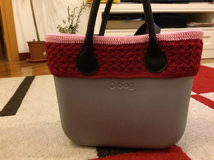 Bordo double-face in cotone per O bag mini
