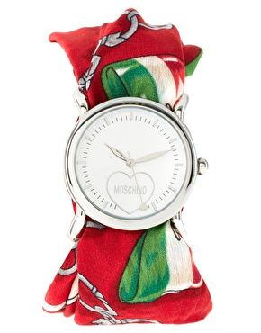 Moschino Cheap&Chic Red Scarf Watch