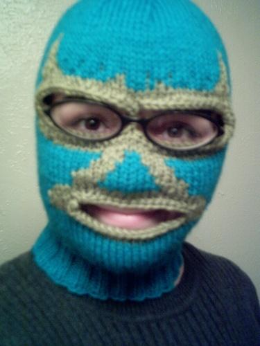 Lucha Libre Mask: hilarious knit face mask!