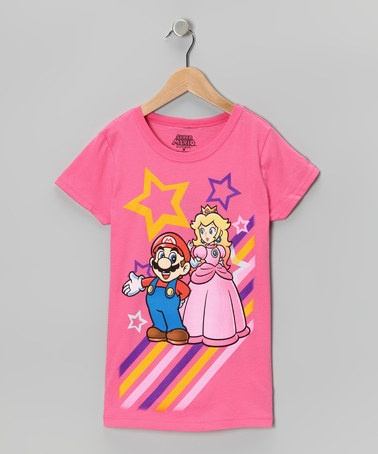 Take a look at this Hot Pink Super Mario Tee - Girls by Nintendo on #zulily today!
