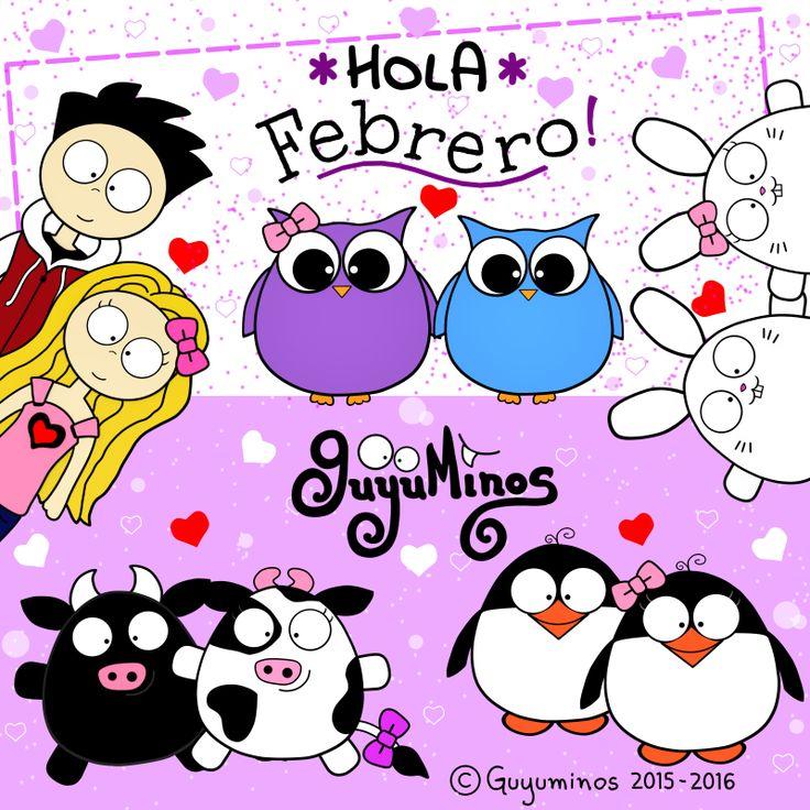 Hola Febrero! Bienvenido Mes del Amor y la Amistad!!! :D #febrero   #mes   #hola   #guyuminos   http://guyuminos.blogspot.mx/2016/02/hola-febrero.html