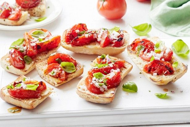 Try this delicious tomato bruschetta for a beautiful meal starter this summer.