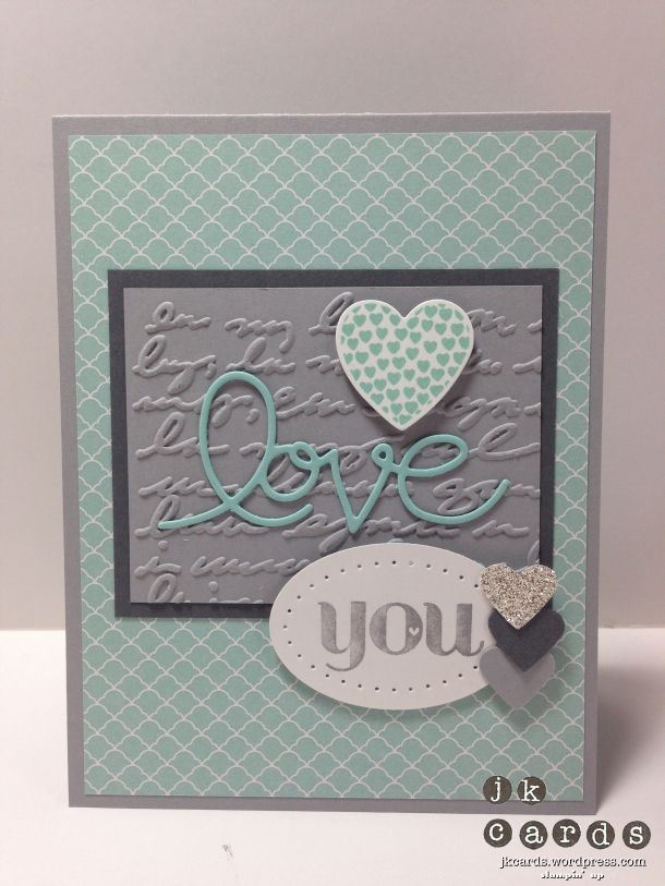 Stampin' Up! stamp sets Really Good Greetings & Hearts A Flutter with matching Framelits, NEW Pretty Print Textured Impressions Embossing Folder & Expressions Thinlits Die