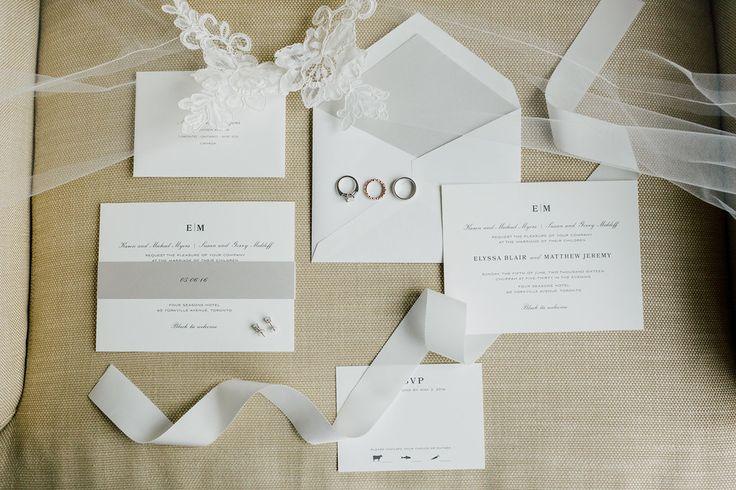 Follow @FSToronto for more wedding inspiration!   Photo Credit: Purpletree Photography #TorontoWeddings #FSWeddings #Fourseasons #Weddings #Toronto #invitations