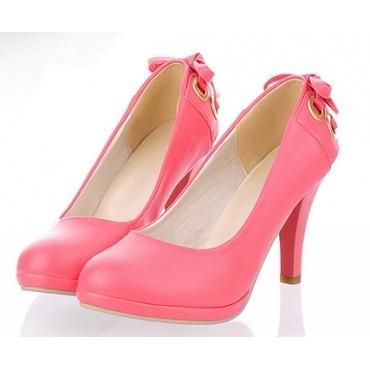 Scarpe con tacco colore rosa  - calzata dal 35 al 43 Consegna 8/10 giorni lavorativi. Costo spedizione € 2,99