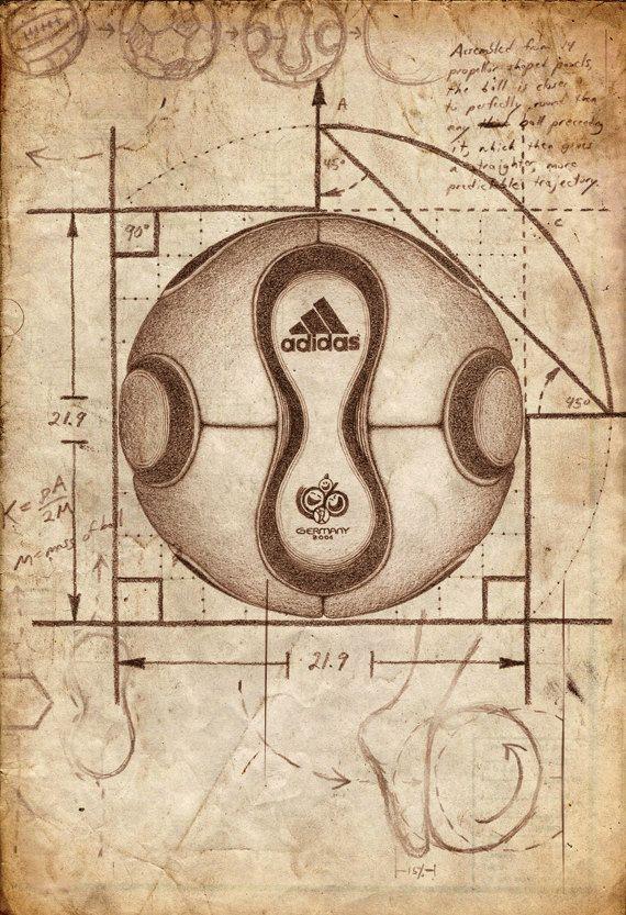 Adidas Teamgeist Soccer Football Poster Print  by soccm84 on Etsy, $35.00