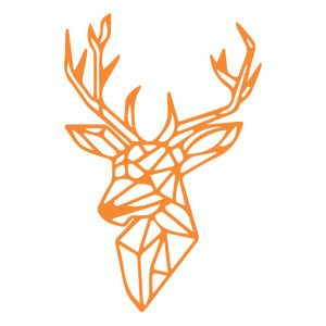 Silhouette Design Store: geometric deer head