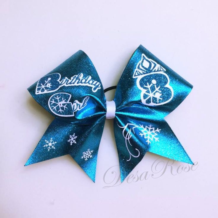 Frozen Theme Birthday Girl Bow by desarosebowtique on Etsy https://www.etsy.com/listing/188899584/frozen-theme-birthday-girl-bow