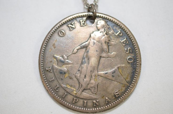 One Peso Filipinos 1907 Silver Coin U.S. United States Of America Necklace