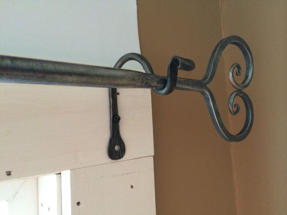 Wrought Iron Curtain Rod Heart Design Curtain By VermontForgings