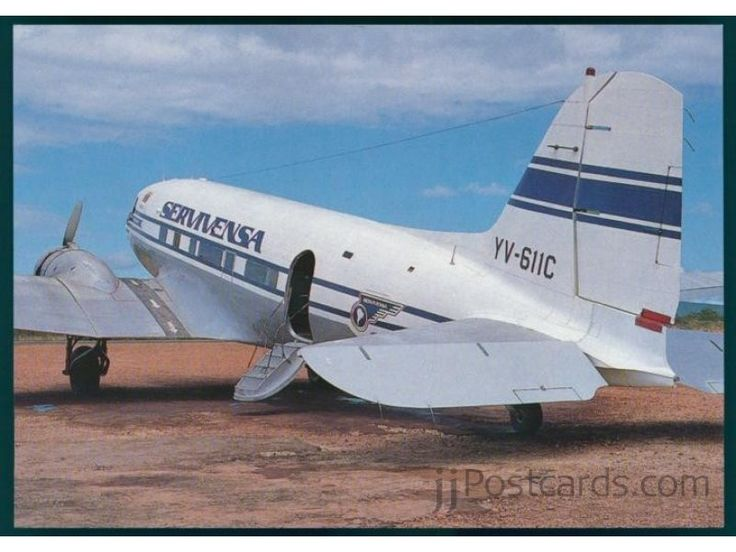 Douglas C-48B (YV-611C, c/n 01977) of SERVIVENSA (Servicios Aereos Avensa S.A.) at Canaima airport.