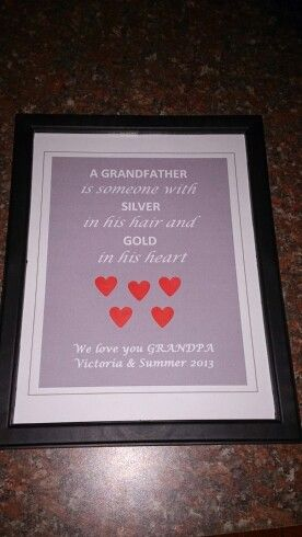 DIY Christmas gift for Grandpa from the twins !
