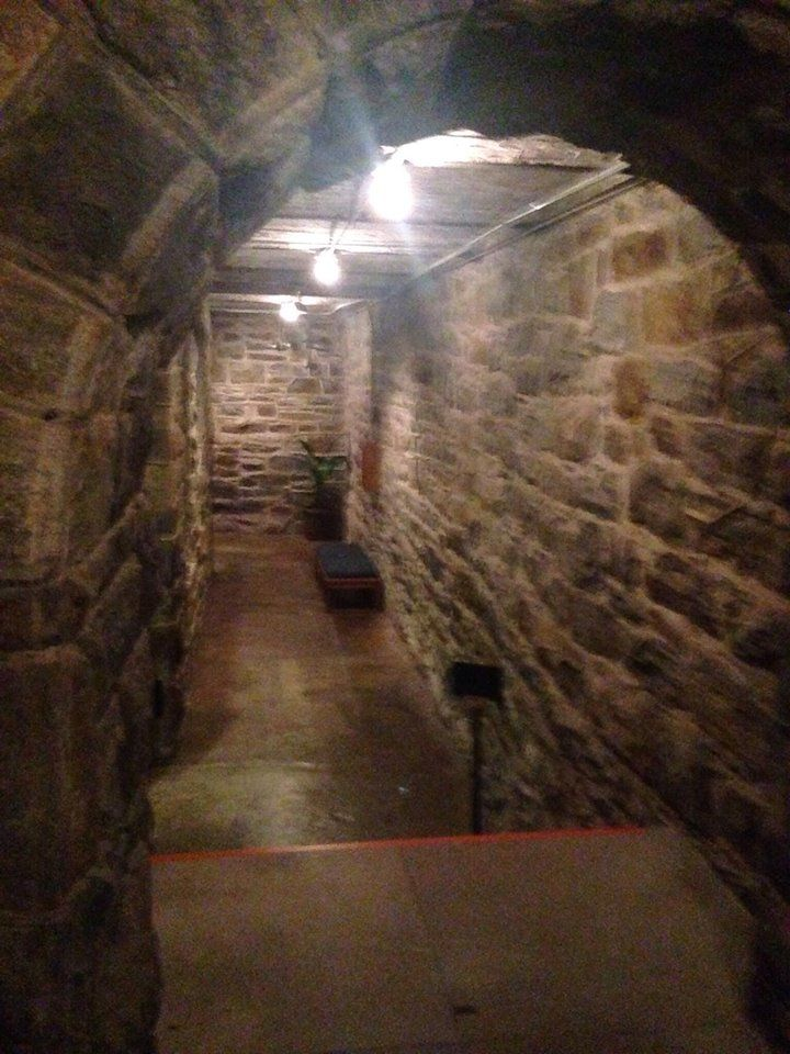 biltmore house basement hallway to halloween room