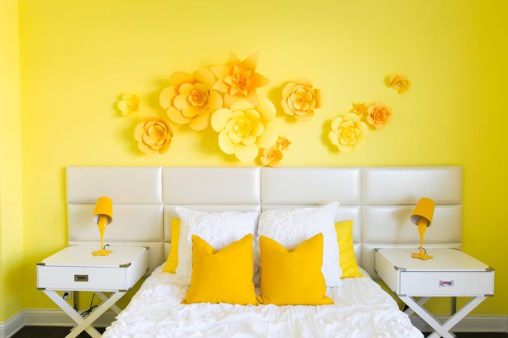 A lesson in how to use bright color in your bedroom design!