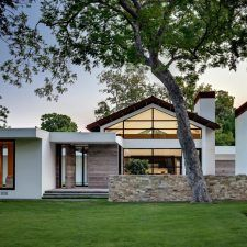 modern ranch exterior contemporary with lawn