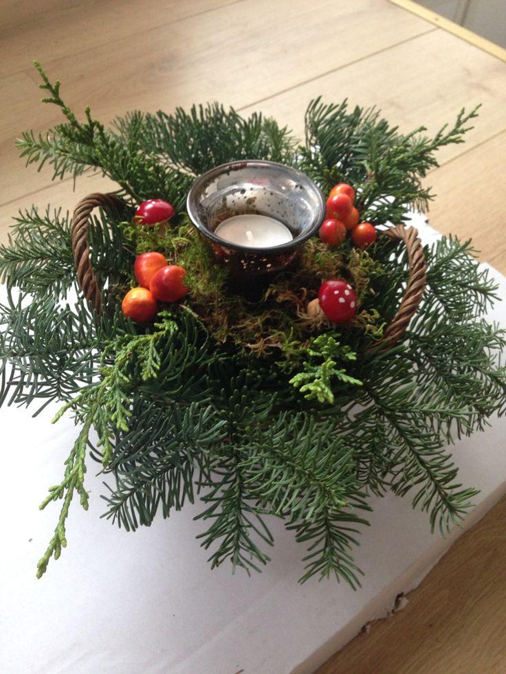 Bont kerststukje
