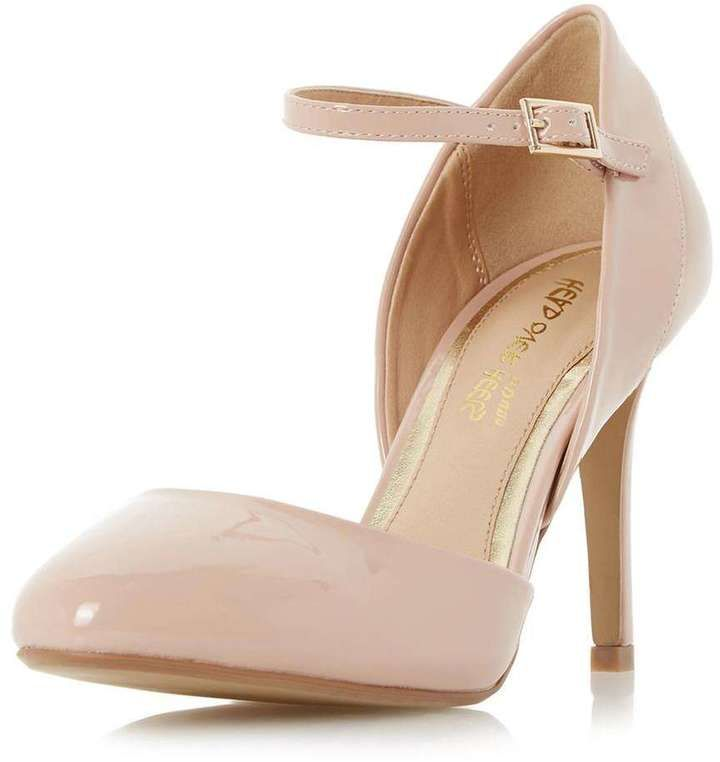 **Head Over Heels Corrina Nude Court Shoes