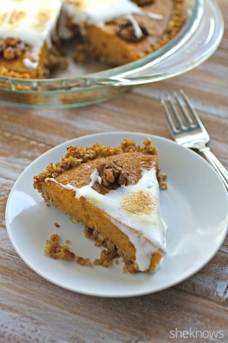 Add a surprising twist to your holiday sweet potato pie with a quinoa-walnut crust